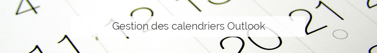 Gestion des calendriers Outlook