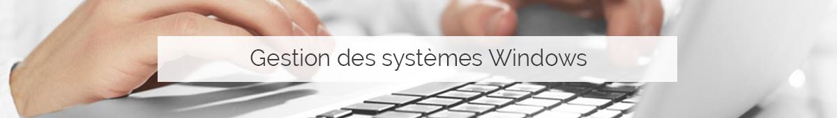 Gestion des systèmes Windows