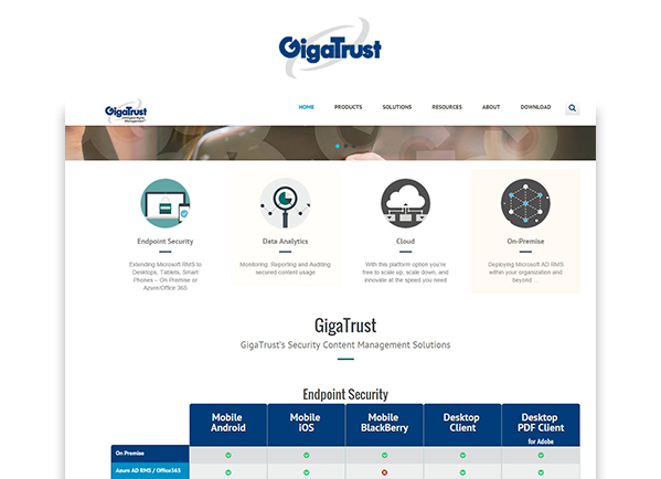 Site Internet Gigatrust