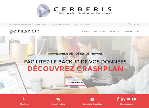 Illustration nouveau site web Cerberis