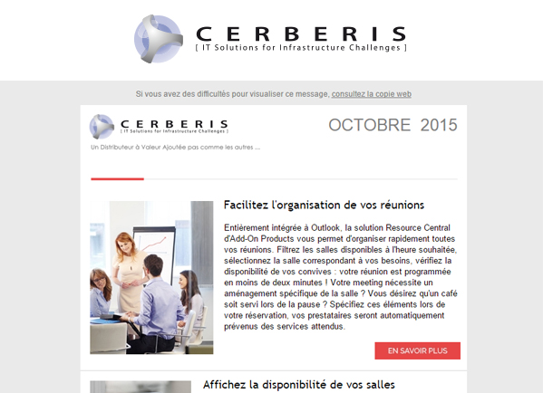 Illustration Newsletter Cerberis