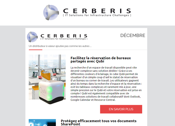 Newsletter Cerberis Décembre
