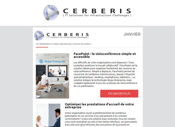 Newsletter Cerberis