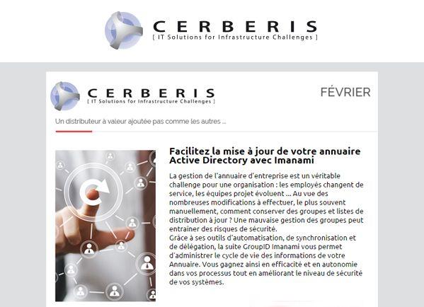 newsletter Cerberis février