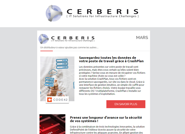 Newsletter Cerberis mars