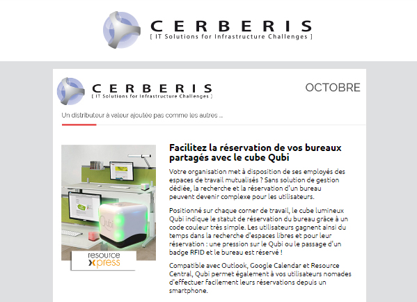 newsletter Cerberis octobre 2016