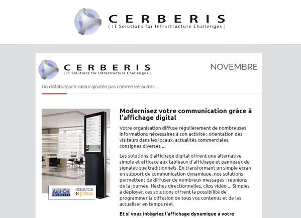 Découvrez notre dernière newsletter Cerberis